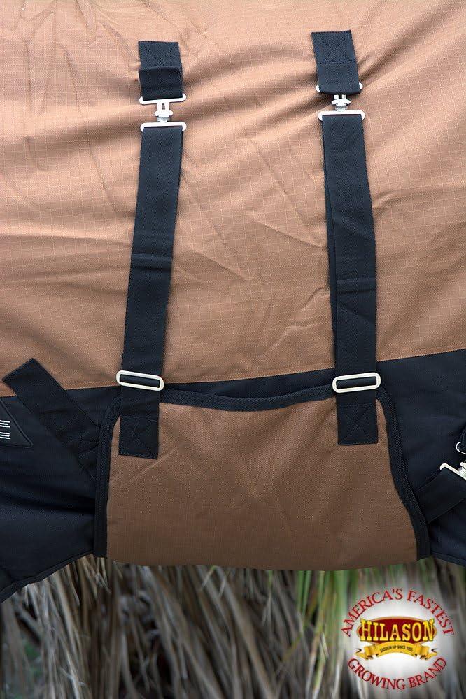 HILASON 1200D Winter Waterproof Poly Horse Blanket Belly Wrap Black