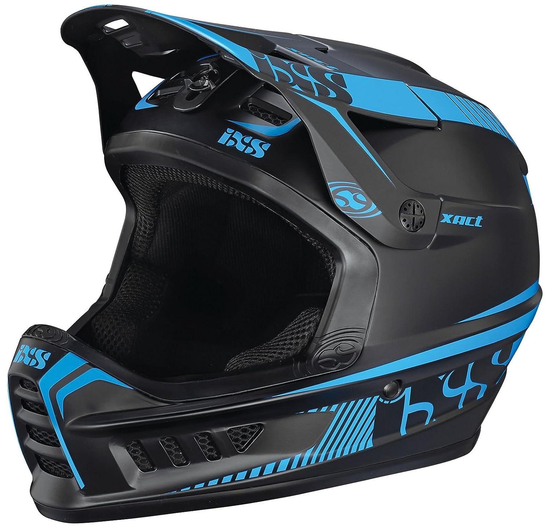 IXS Downhill-MTB Helm Xact Schwarz Fluo Blau