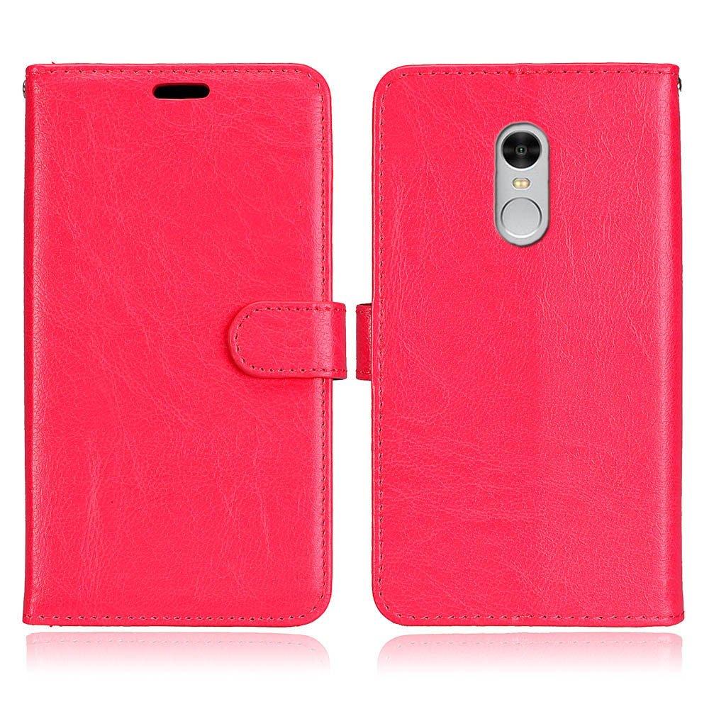 Housse Coque Etui pour Xiaomi Redmi Note 4 Rouge Laybomo Coque Xiaomi Redmi Note 4 Etui Housse PU Cuir Pochette Portefeuille Coque Aimant Protecteur Doux tpu Cover Cadre Photo