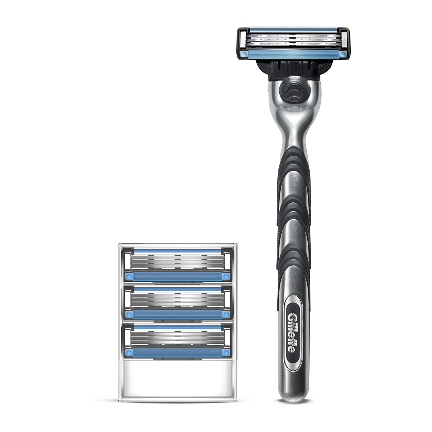 Gillette Mach3 Men's Razor Handle + 4 Blade Refills