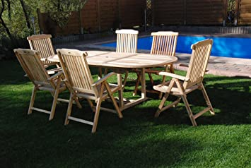 Xxs Gartengruppe Aruba Aus Teak Holz 7 Teilig Garten Tisch Mit