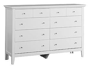 Glory Furniture 8 Drawer Dresser White