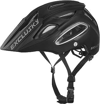 Exclusky Casco de Ciclismo,Unisex Adulto,M(54-58cm) (Negro ...