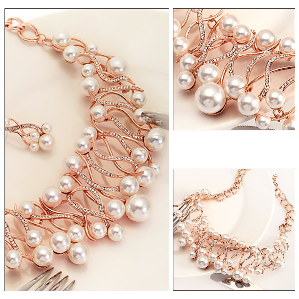 IUHA Pearl Necklace Elegant Jewelry/Gift /Fade Resistant/Hypoallergenic by IUHA (Image #4)