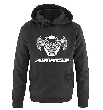 AIRWOLF - LOGO III - Herren Hoodie by Comedy Shirts: Amazon.de: Bekleidung