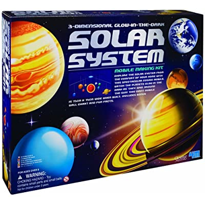 4M 3-Dimensional Glow-In-The-Dark Solar System Mobile Making Kit: Toys & Games