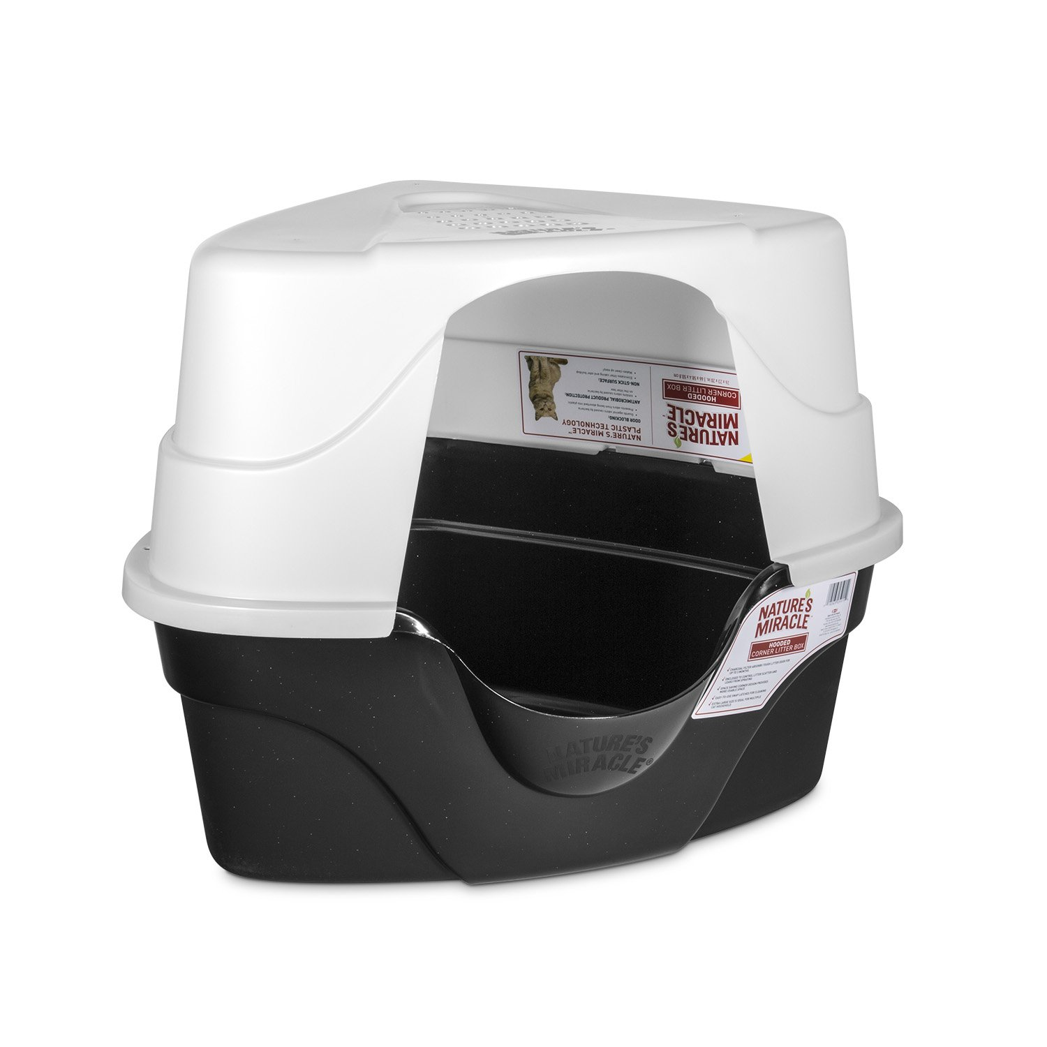 Nature's Miracle Advanced Hooded Corner Litter Box (P-5915) by Nature's Miracle (Image #5)