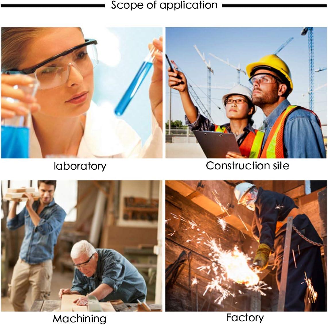 ASEOK Gafas de seguridad,Cubregafas Protectoras,Lentes de Seguridad antivaho,para Laboratorio Agricultura Industria