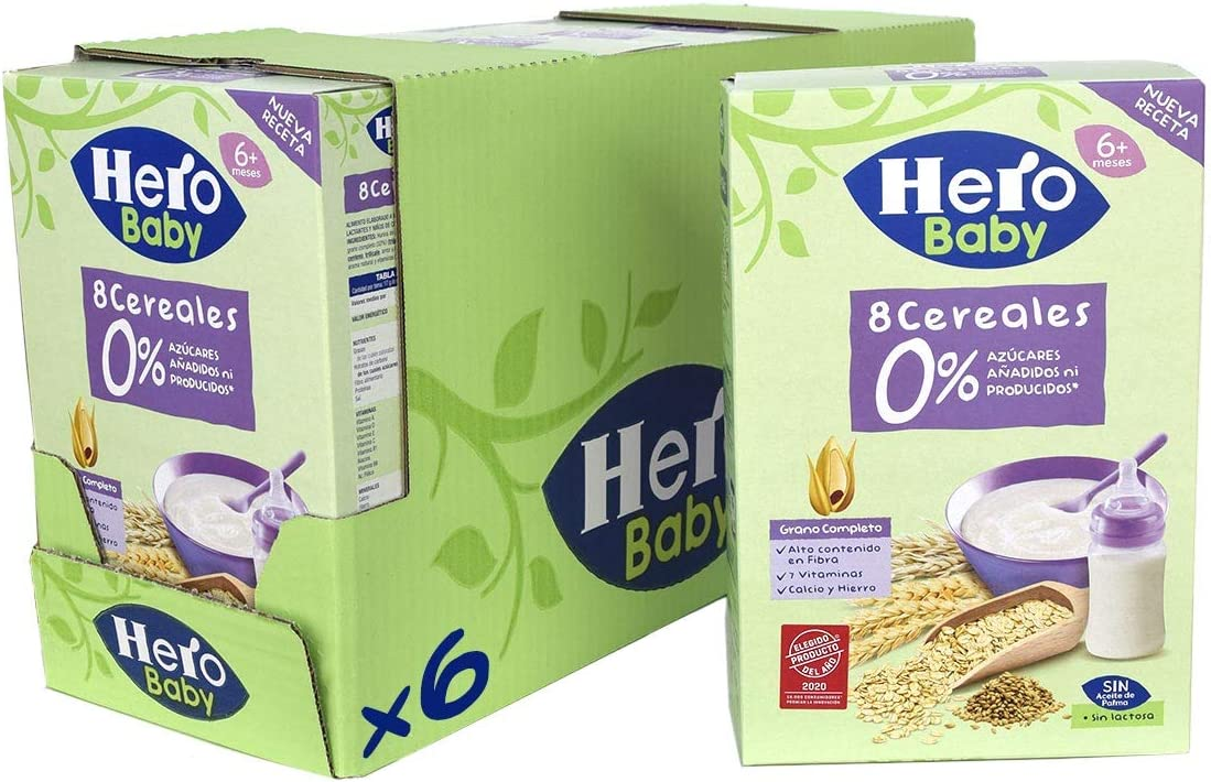 Hero Baby Papillas Infantiles 6 Unidades 340 g: Amazon.es: Alimentación y bebidas