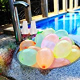Arfun 300 Pack Self Tie Water Balloons, Latex Water Bomb Balloons Fight Games,Summer Splash Fun for Kids and Adults