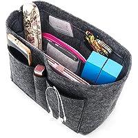 Enerhu Felt Insert Bags Handbag Tote Purse Organizer 10 Pockets Bag in Bag Backpack Travel Storage Pockets Grey Large