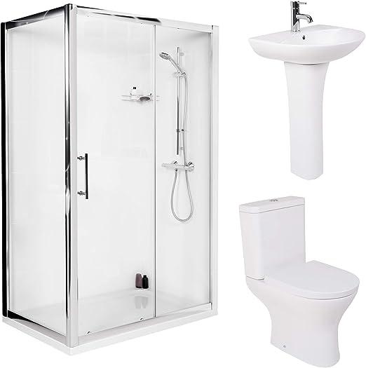 Lujo 1200 mm Puerta Corredera ducha baño WC Lavabo: Amazon.es: Hogar