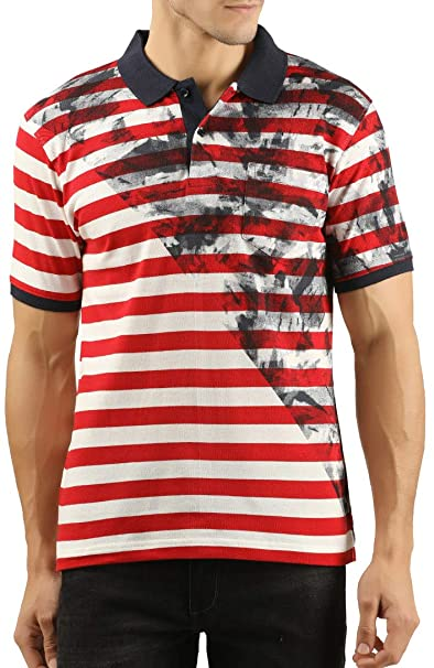 e2ea841dcdc WEXFORD Men s Half Sleeve Printed Polo T-Shirt  Amazon.in  Clothing    Accessories