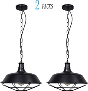 BRIGHTESS Retro Pendent Light Celing Lamp Set of 2… Sweepstakes