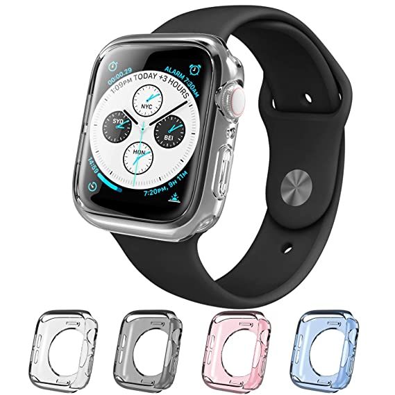 acquisto economico e88a9 24f0d i-Blason Case Compatible with Apple Watch 40mm Series 5 2019 / Series 4  2018, [Halo] TPU Cases [4 Color Combination Pack] [Compatible with Apple  Watch ...