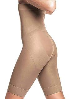 bc3a82d56 Lupo Loba Women s Firm Control Hi-Rise Bermuda Slim Brazilian Shapewear