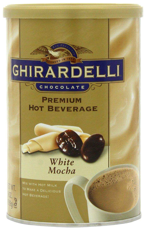 Amazon.com : Ghirardelli Premium Hot Beverage Mix, White Mocha, 19 ...