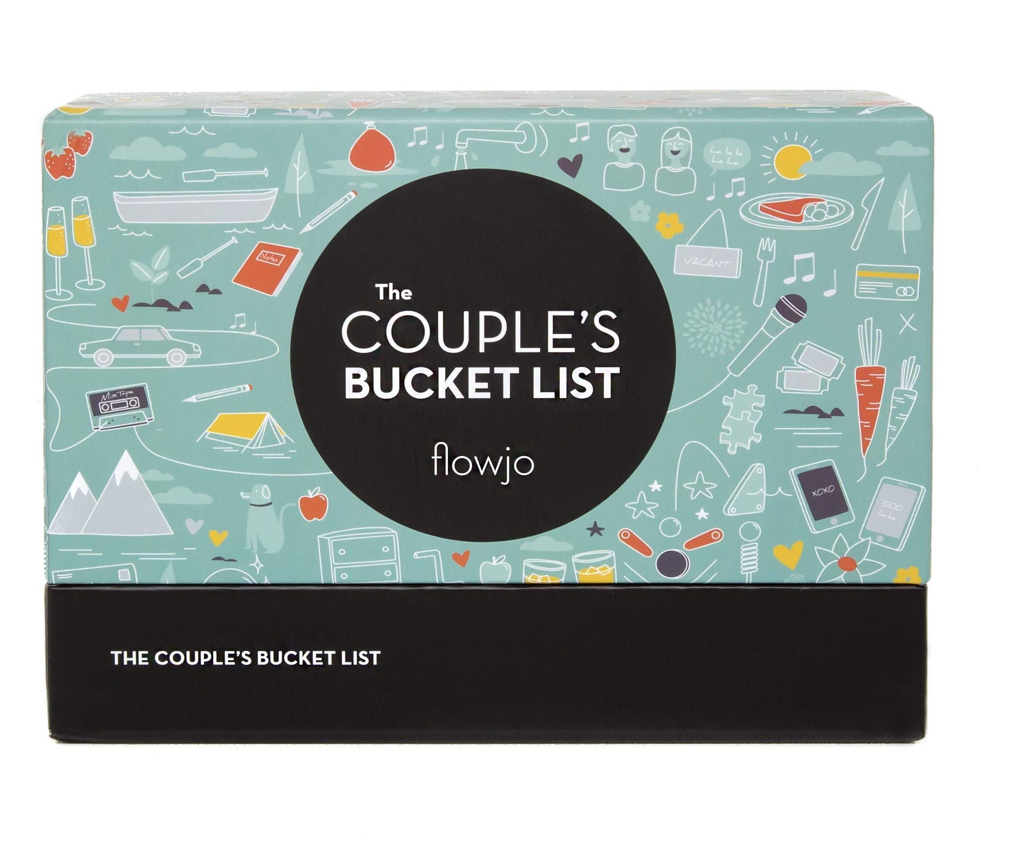 The Couple's Bucket List, 100 Fresh Date Night Idea Cards for Couples - The Perfect Bridal Shower Gift, Unique Anniversary Gift or Wedding Gift! by Flowjo (Image #1)