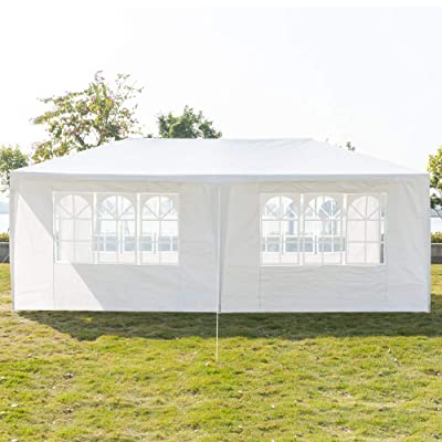 KERMAT Outdoor Party Tent, Portable Wedding Tent Patio Tent Garden Tent Carport Patio Gazebo BBQ Shelter, Heavy Duty Canopy Waterproof UV Protection Tent with Removable Sidewalls : Garden & Outdoor