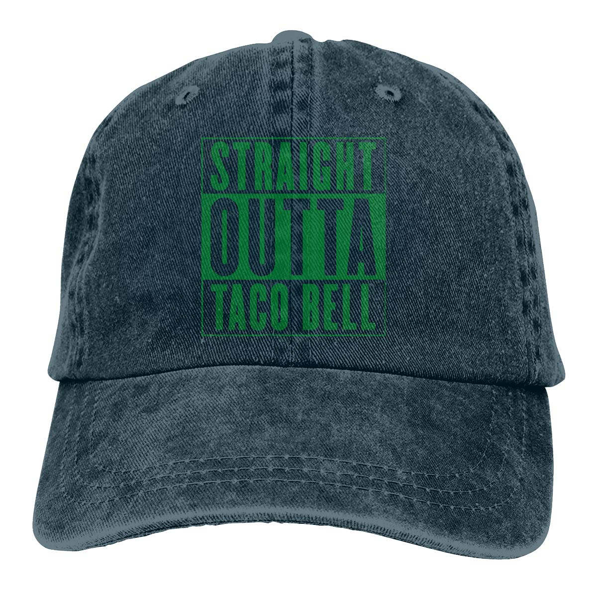 Straight Outta Taco Bell Adult Trendy Cowboy Hip Hop Cap Adjustable Baseball Cap