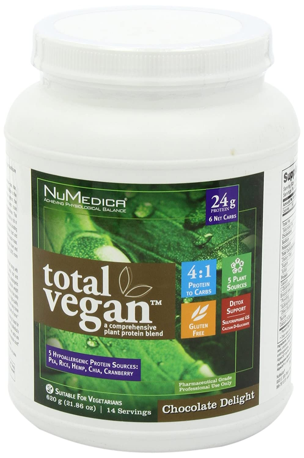 Amazon.com: NuMedica - Total Vegan Chocolate Delight 21.86 Ounce ...