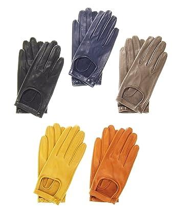 4d53d4096 Fratelli Orsini Women's Classico Italian Lambskin Driving Gloves Size 6 1/2  Color Black