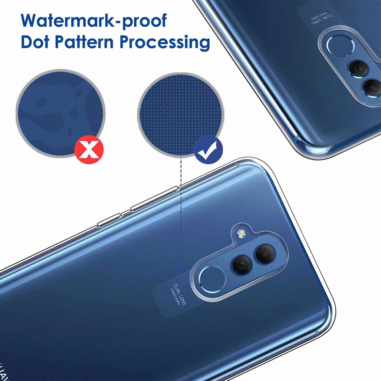 DYGG Compatible con Funda para Huawei Mate 20 Lite 2* Protector de Pantalla Carcasa Forro Transparente TPU Silicona Flexible Case+