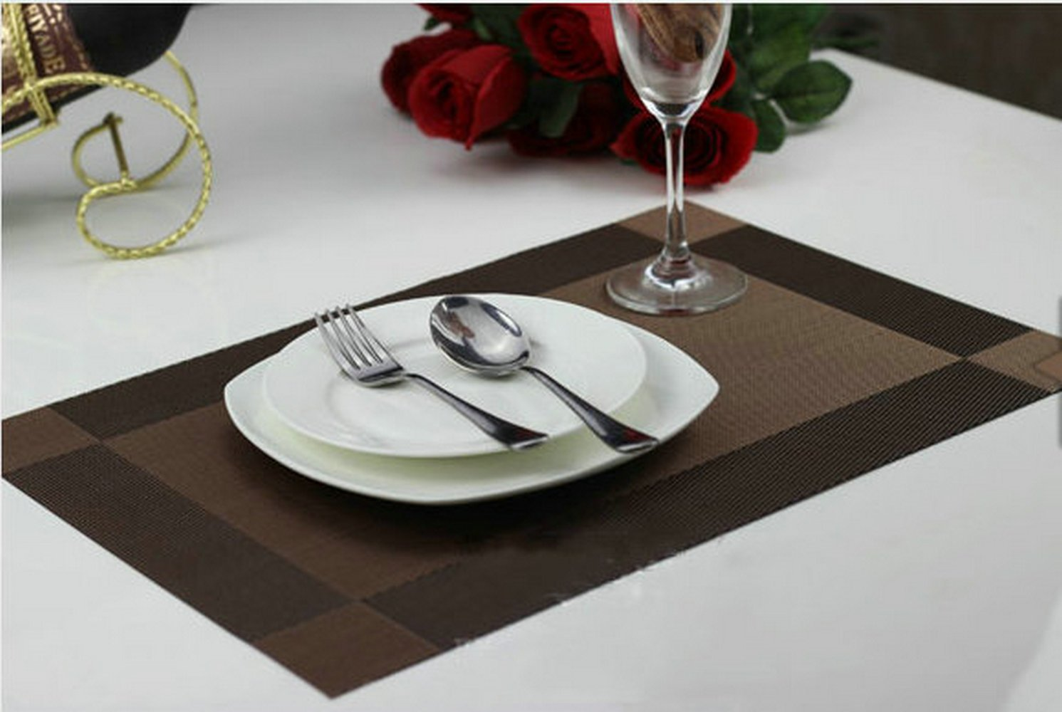Amazon.com: Ayygift High Quality Dining Room Placemats Heat ...
