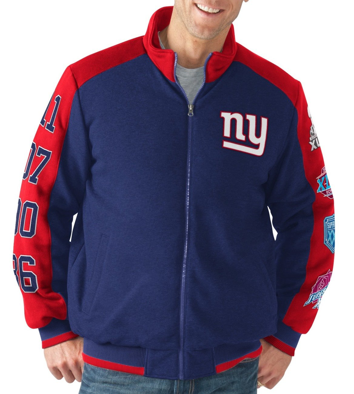 c87cf0829 Amazon.com : G-III Sports New York Giants NFL Classic Men's Super ...