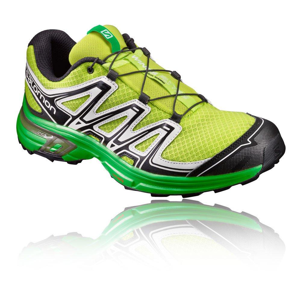 Salomon Wings Flyte 2, Calzado de Trail Running para Hombre 46 EU|Verde (Lime Punch./Black/White)