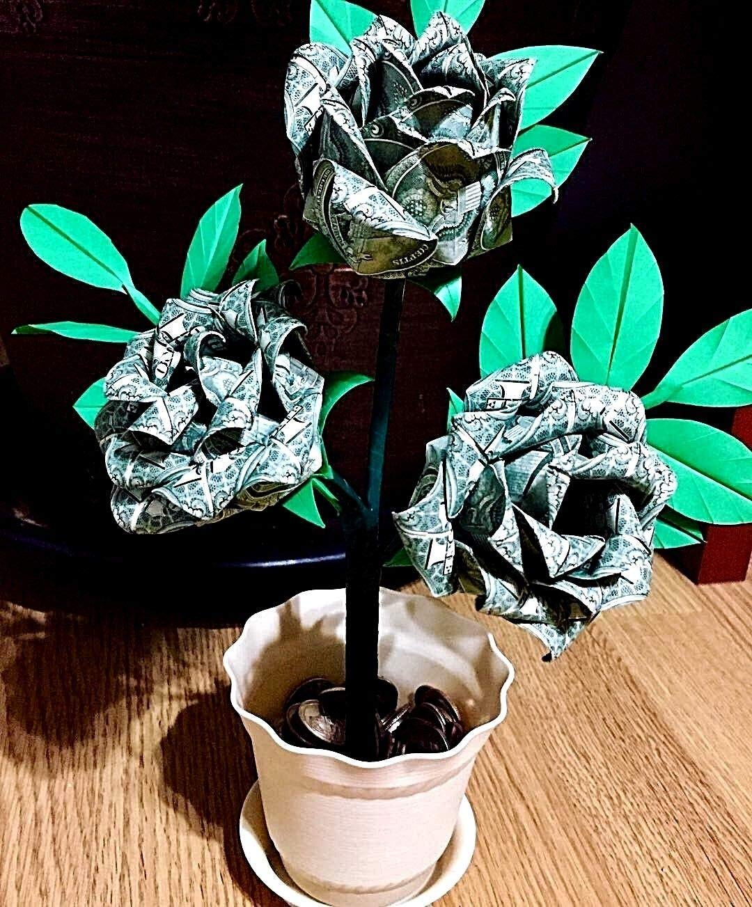 Easy and Beautiful Money FLOWER | Origami Dollar Tutorial ... | 1303x1080