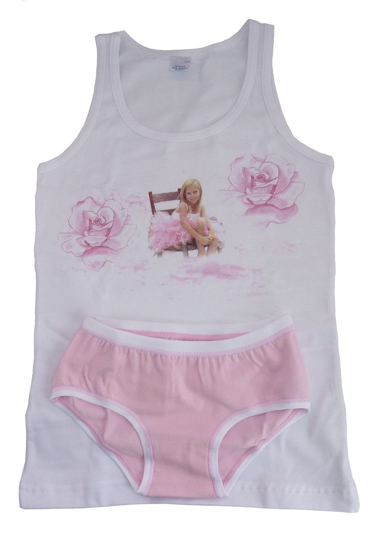 Jadea Girl's Tank Set w/Ballerina Design