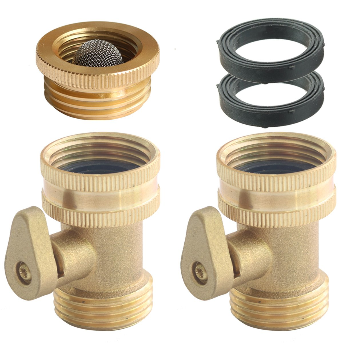 PLG Solid Brass Water Hose Shut-Off Valve by PLG