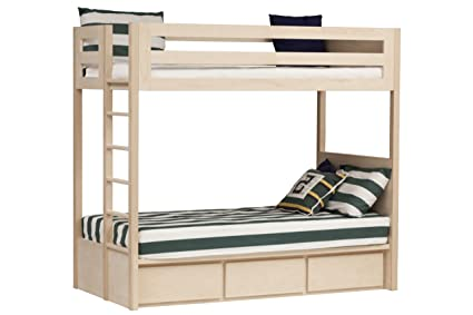 Amazon Com Urbangreen Furniture Maple Unfinished Twin Bunk Beds W
