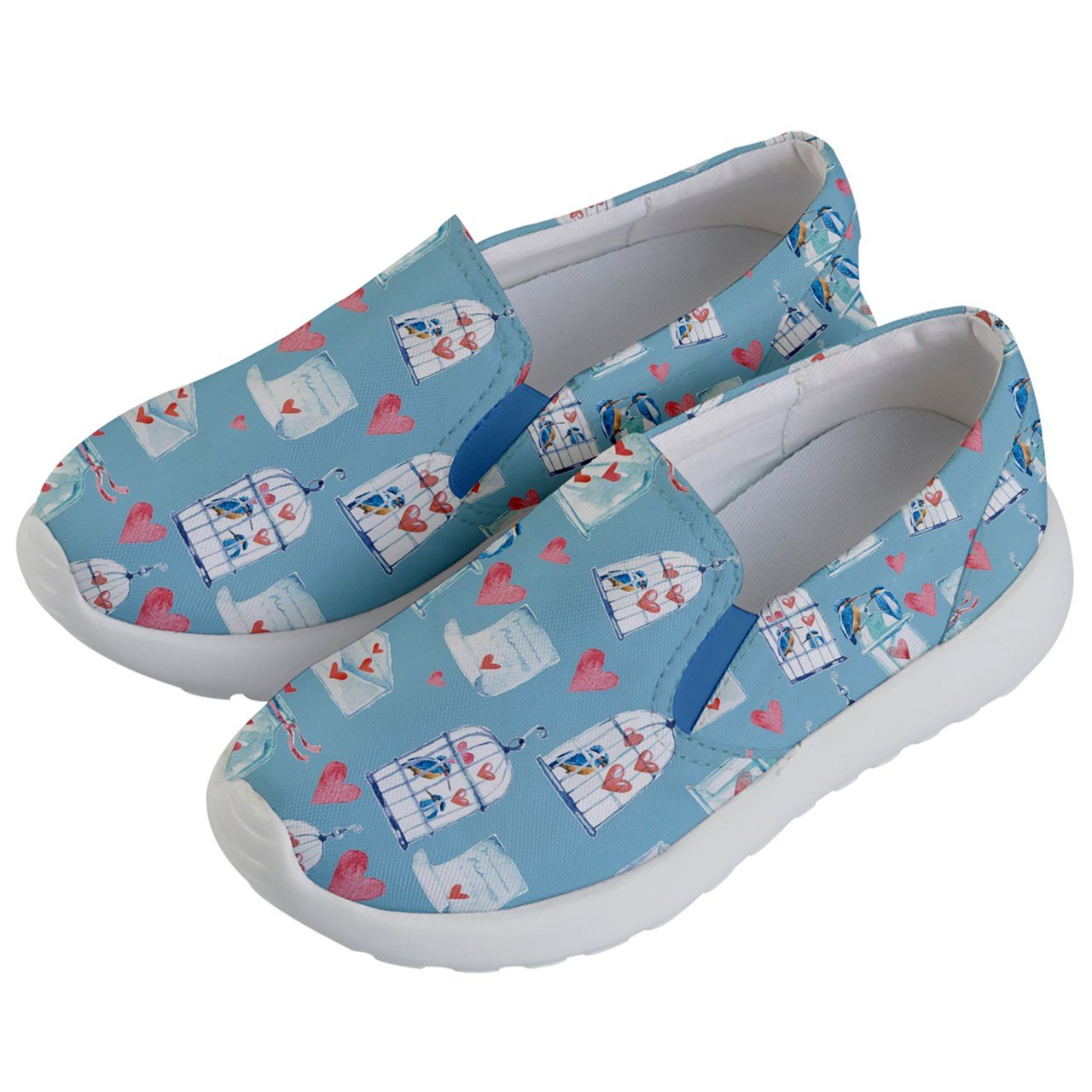 PattyCandy Kids & Toddlers Slip On Love Bird & Cage Lightweight Shoes-US 5.5Y by PattyCandy (Image #2)