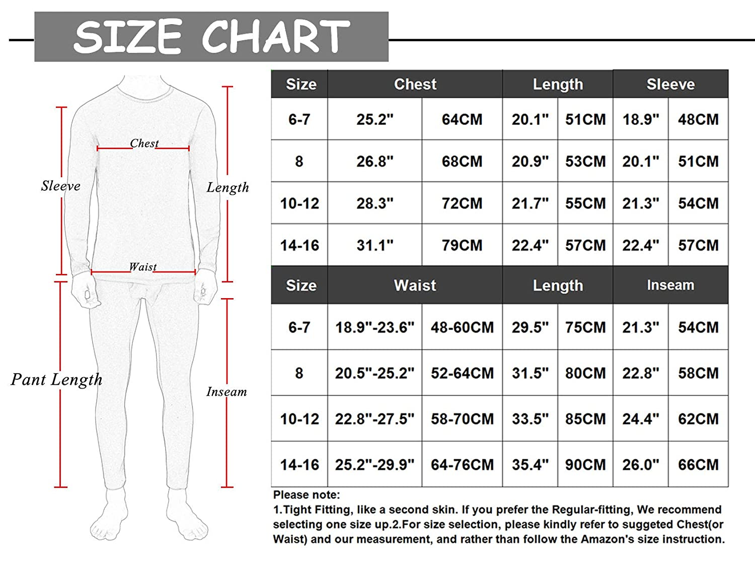 Minghe Boys/Long Sleeve Base Layer Underwear Suit Athletic Tights Tops /& Bottom Set Workout Fitness Sports Wear