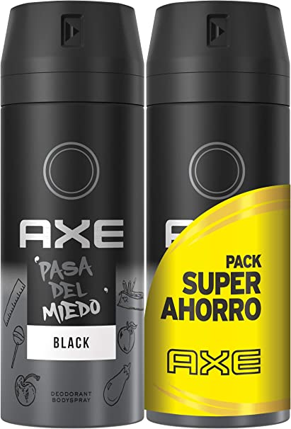 AXE Pack Ahorro Desodorante Black 2 x 150 ml: Amazon.es: Belleza
