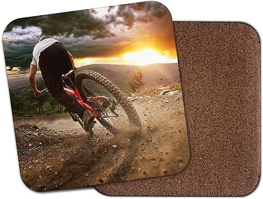 Posavasos para bicicleta de montaña, diseño de Downhill Racer Bike ...