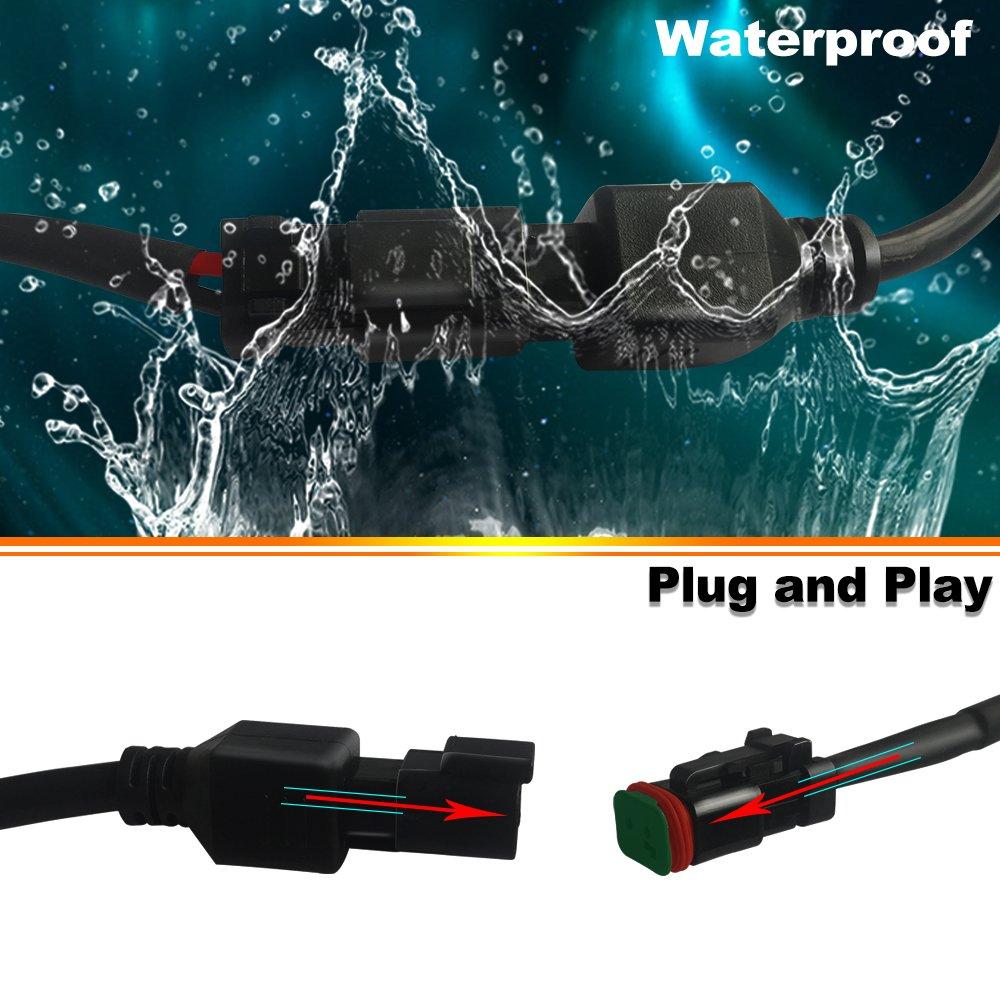 Turbosii 22 23 Inch Led Light Bar 144w 14400lm Spot Flood Combo Wiring Work Lights Tractor