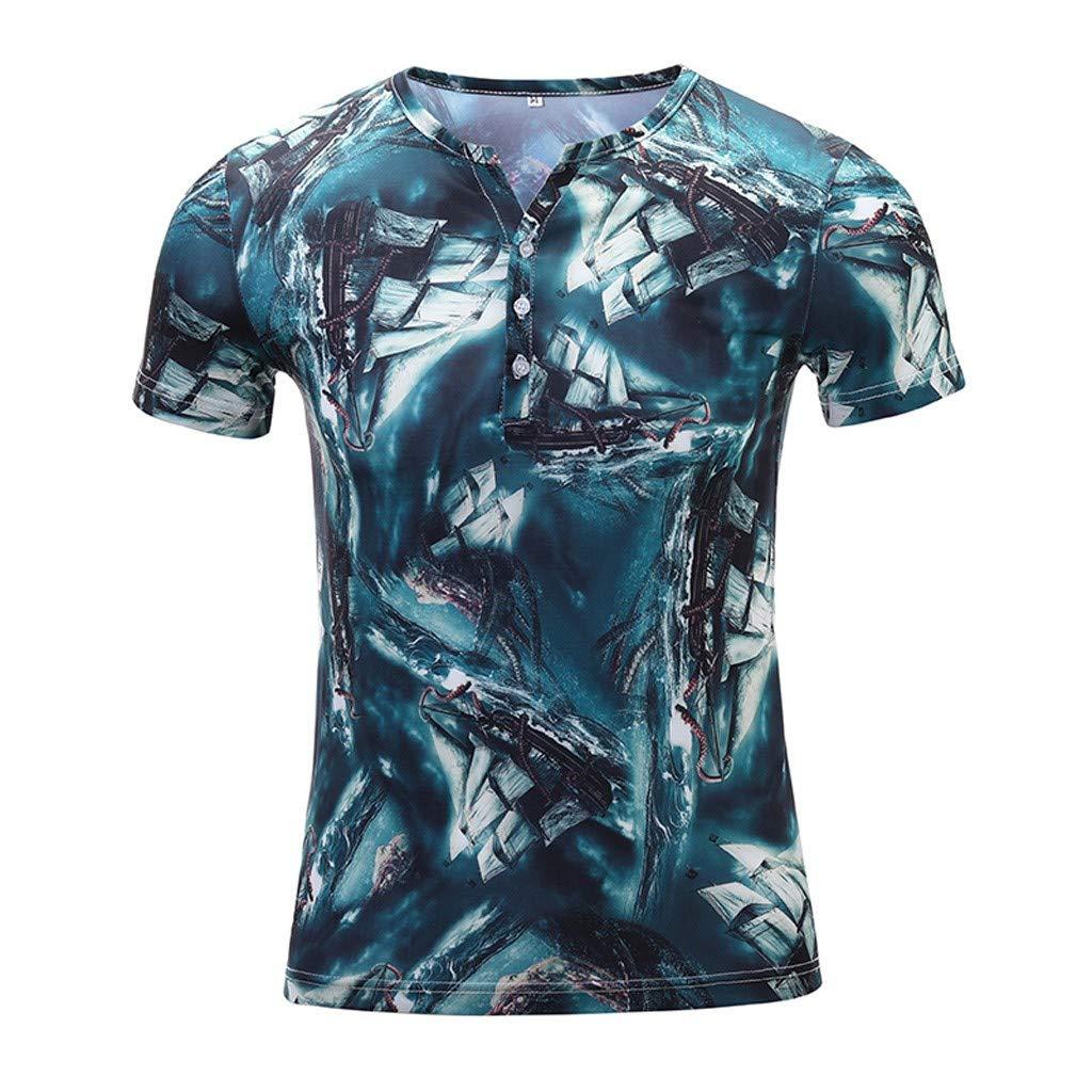 Men's Retro Bowling Bahama Camp Button-Down Shirt Green by Donci T Shirt