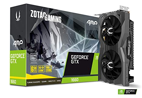 ZOTAC Gaming GeForce GTX 1660 AMP 6GB GDDR5 192-bit Gaming Graphics Card, Super Compact, IceStorm 2.0 Cooling, Wraparound Metal Backplate - ...