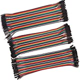 LANDZO 120pcs 20CM Multicolored 40pin Male to Female, 40pin Male to Male, 40pin Female to Female Breadboard Jumper Wires…