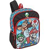 """Nintendo Super Mario """"Huge Heroes"""" Lenticular 16"""" Children's School Backpack"""