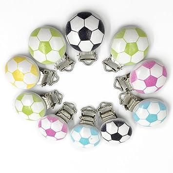 Coskiss 20pcs Chupete de madera Clipes Cute Fútbol Patrón ...