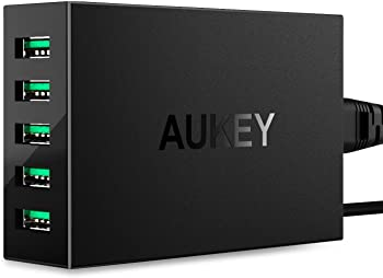 Aukey 50W/10A 5-Ports USB Charger