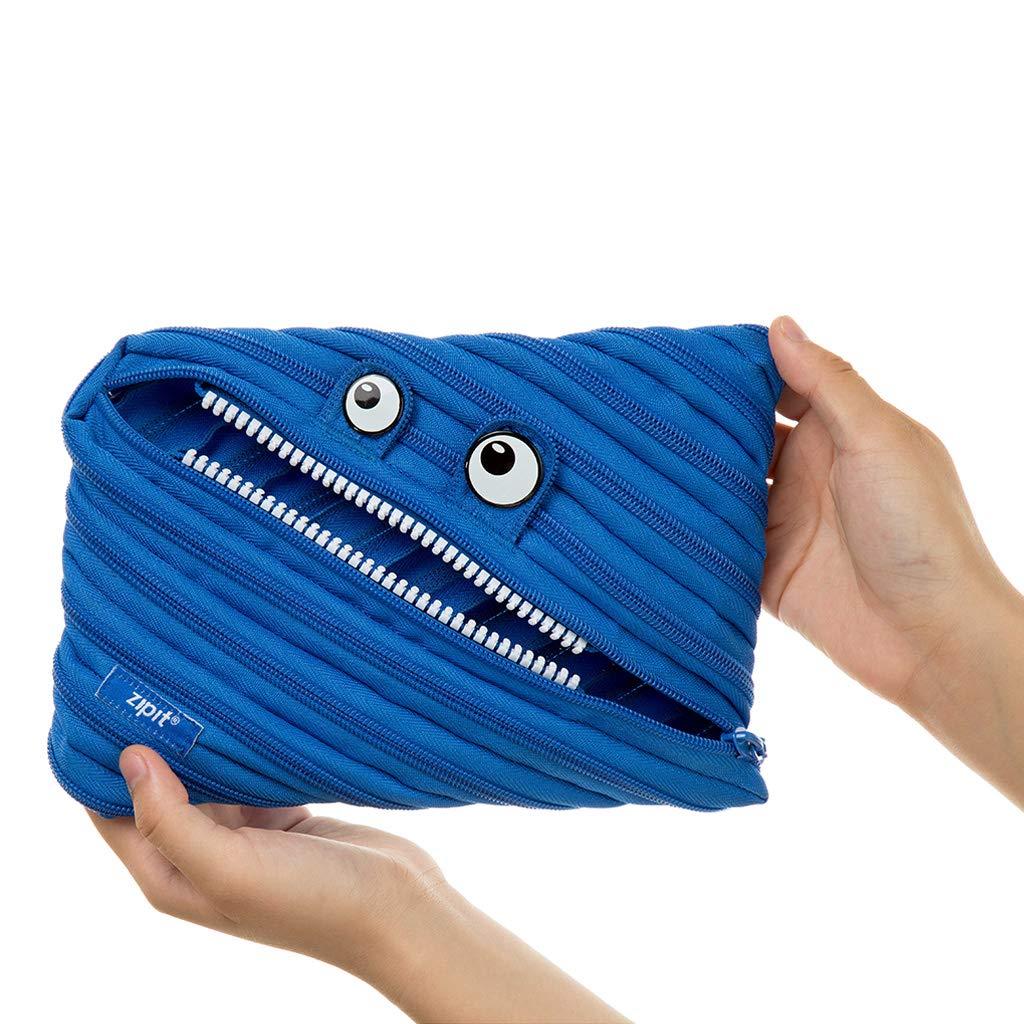 ZIPIT Monster - Estuche para lápices, color azul L: Amazon ...