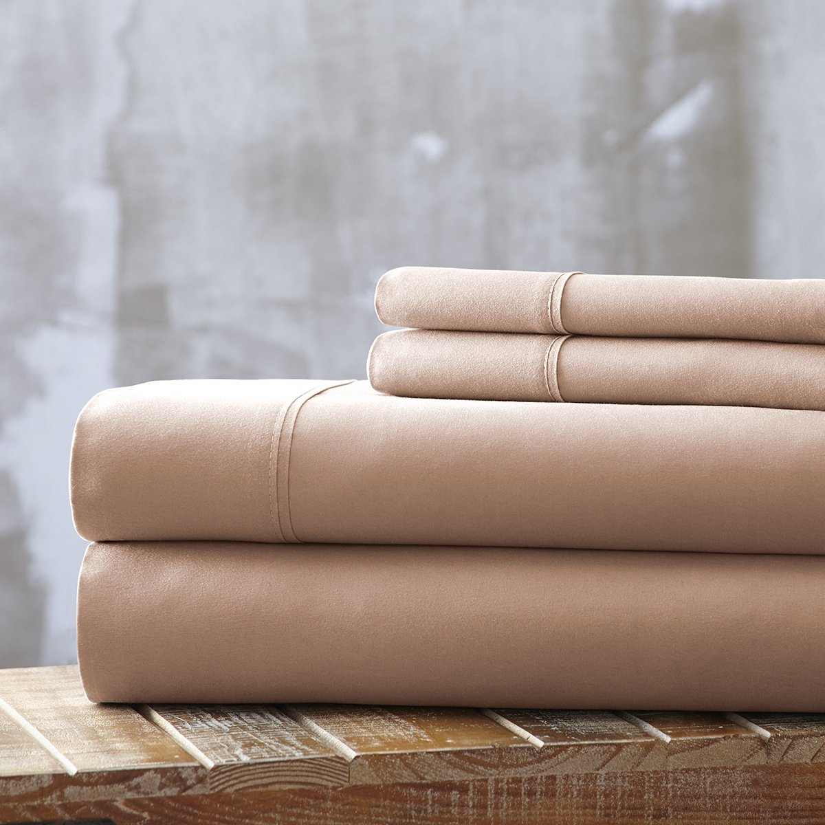 Spirit Linen, Inc Hotel 5th Ave EE-FULL-CHAMPAGNE-4PC Full Champagne Everyday Essentials 1800 Series 4Pc Sheet Set