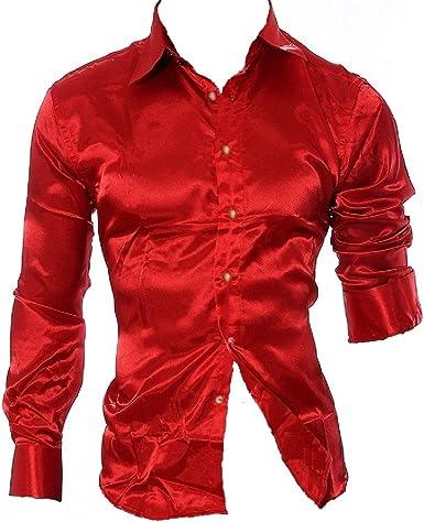 New Fashion - Camisa formal - para hombre rojo rojo: Amazon.es: Ropa y accesorios