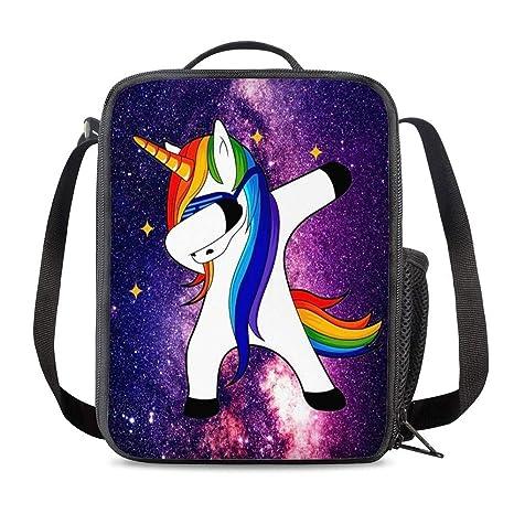 Amazon.com: PrelerDIY Galaxy Dab Unicornio aislado bolsa de ...