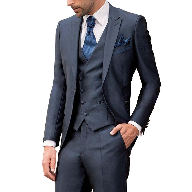 メンズ スーツ スリーピース 2つボタン 高品質 ビジネス カジュアル ファッション 大きいサイズ B077XVXSCW XXL